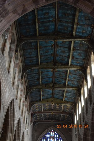 Coventry, UK: Ceiling above the nave.