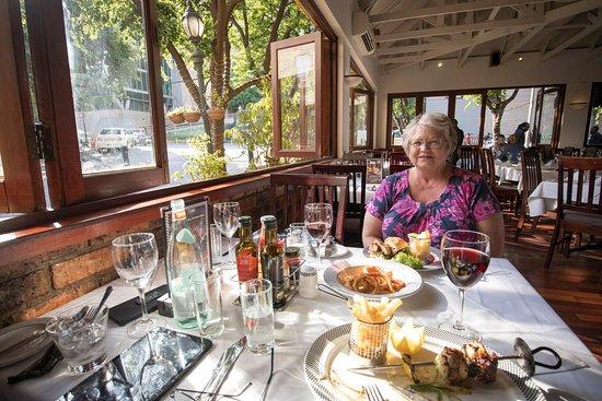 The Bull Run Restaurant: window to the world outside