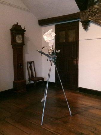 Aston Hall: Sculpture of camera on tripod