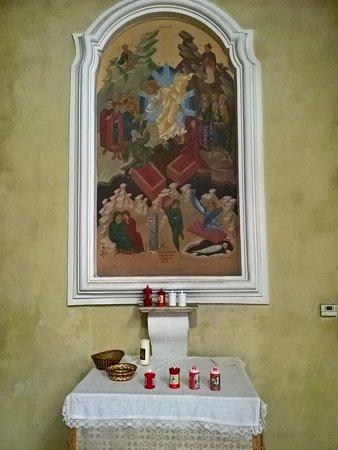 San Basile, Italia: Icona bizantina - La risurrezione di Gesù