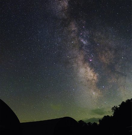 Burnsville, Северная Каролина: The Milky Way as seen through the camera lens of Jeremy Bare, Observatory manager