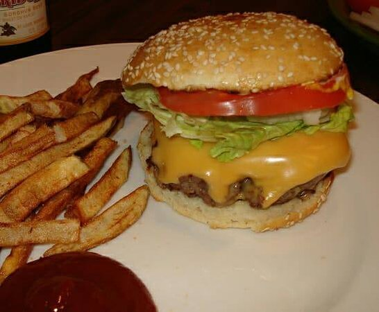 Wayside Bar & Jerk Spot: Burger & Fries