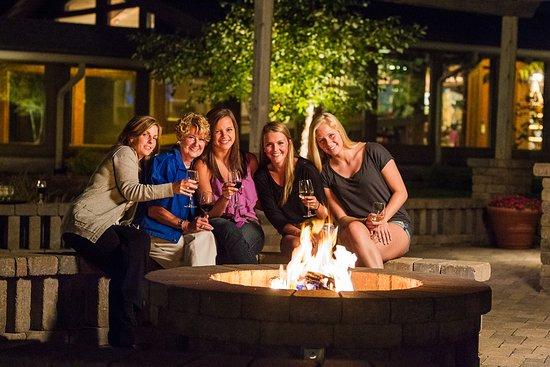 Delavan, WI: Nightly bonfires throughout resort grounds.
