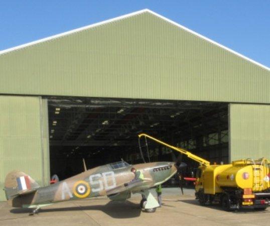 Battle of Britain Memorial Flight Visitor Centre: refueling