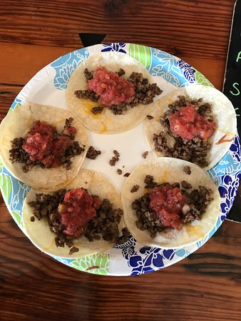Poncha Springs, CO: beef tacos