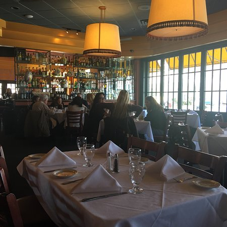 Piermont, Estado de Nueva York: Menus, my martini, view from my table, my chicken entree