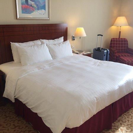Paris Marriott Charles de Gaulle Airport Hotel: Chambre propre et spacieuse mais pas moderne