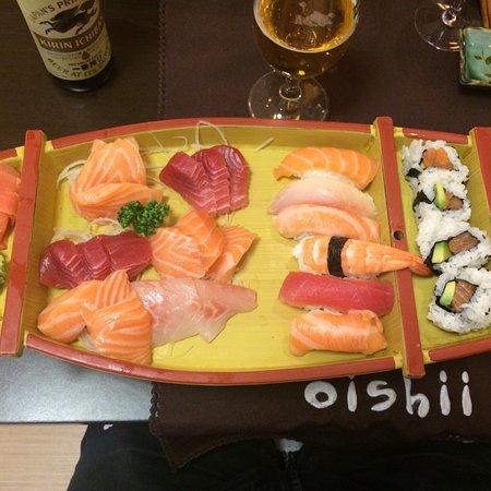 Oishii: Bateau pour une personne. Complet et copieux.