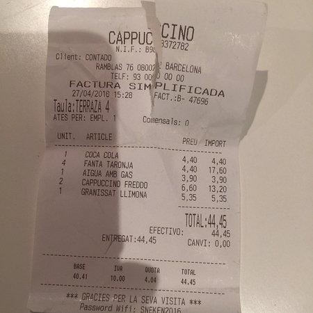 Photo0 Jpg Picture Of Cappuccino Barcelona Tripadvisor