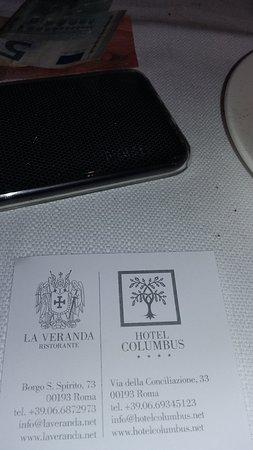 La Veranda Dell'Hotel Columbus: The restaurant