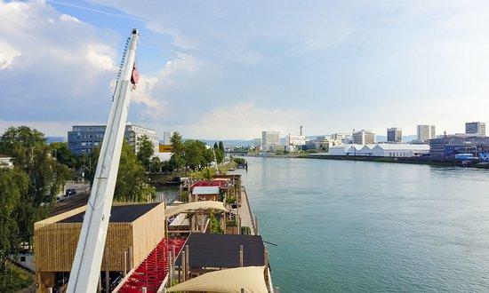 Canton of Basel, Switzerland: Roofdeck auf dem Schiff