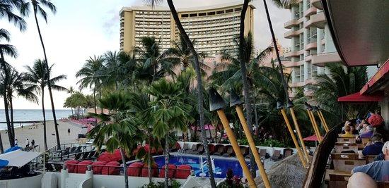 Hula Grill Waikiki View Towards Royal Hawaiian Hotel