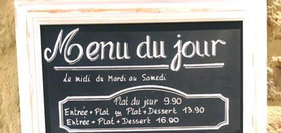Saint-Macaire, Francja: menu du jour