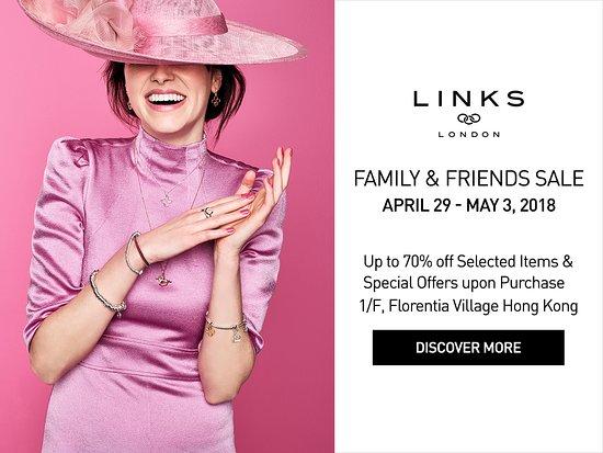63d3e8de3d4 Florentia Village, Hong Kong Luxury Designer Outlet: Links of London Family  & Friends Sale