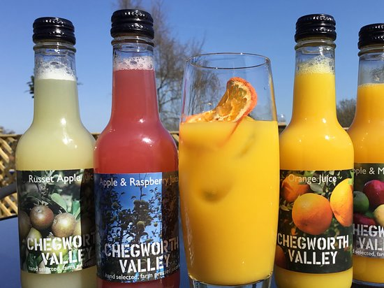 Cranbrook, UK: Local juices