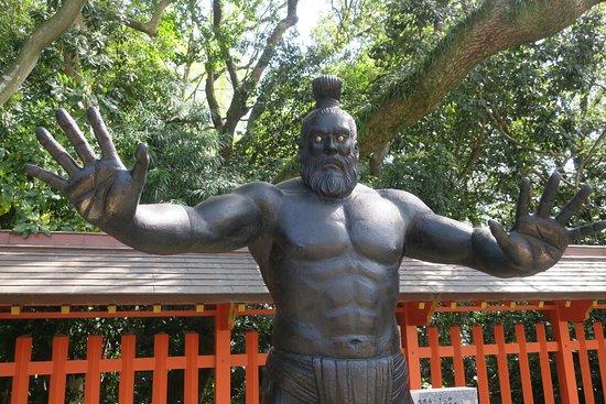 Kodai Rikishi Statue
