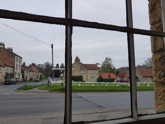 Hovingham, UK: our room from the hotel dining room