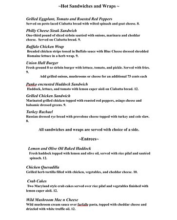 Johnstown, NY: Lunch menu p2 2018