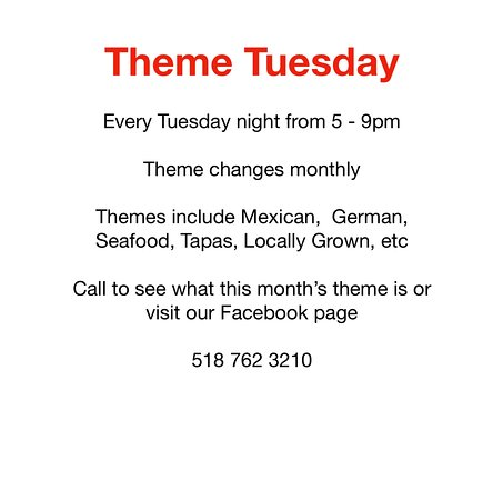 Johnstown, NY: Our popular Theme Tuesday