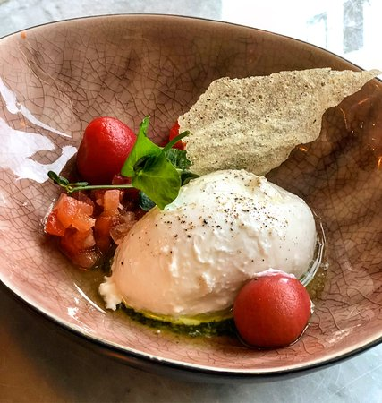 Burrata with gazpacho
