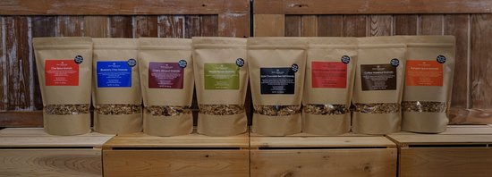 Door County, WI: Eight of our flavors of granola, with more to come!
