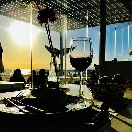 Una vez más en el paraíso, con mi vino y un tataki de atún de la almadraba de Tarifa