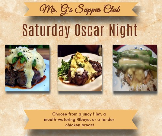 Jacksonport, WI: Oscar Night Saturdays. Filet, Ribeye, Chicken.