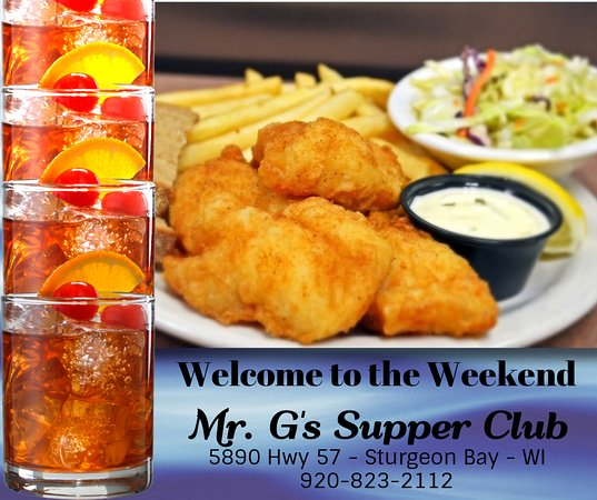 Jacksonport, WI: Cod, perch, walleye, pike, whitefish, salmon.  Fridays at G's. It's where the locals go.
