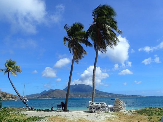 Myislands Tours by Javin : Cockleshell Beach - Nevis in Background