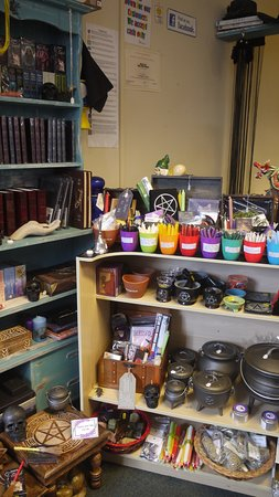 Mablethorpe, UK: we also stock pagan/wicca items