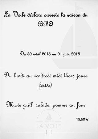 Houdeng-Goegnies, เบลเยียม: Plat du jour de La Brasserie La Voile