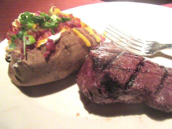 Sirloin Steak with Loaded Potato, Black Angus Steakhouse, Milpitas, CA