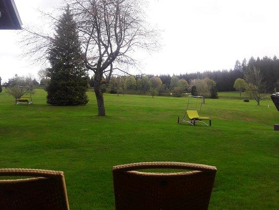 Zum Ochsen: Blick auf Terrasse & Golfplatz