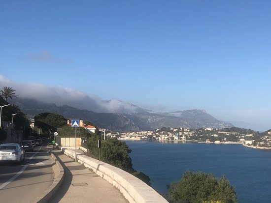 The road from Nice to Villefranche-Sur-Mer