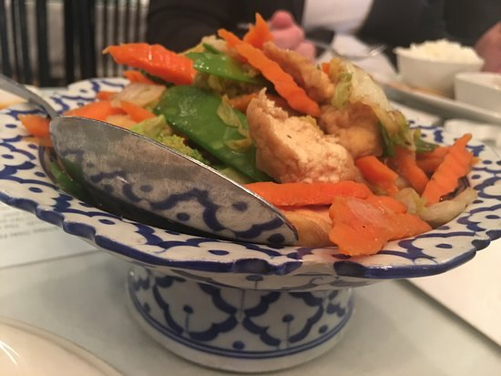 Thai Basil Restaurant: Mixed vegetables with tofu