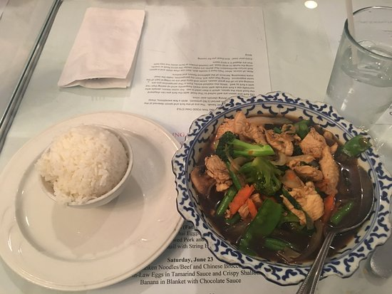 Thai Basil Restaurant: Chicken with vegetables