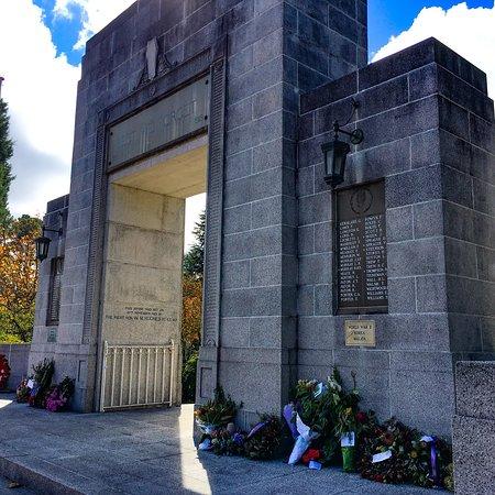 Blackheath, Australia: War Memorial near New Ivanhoe Hotel on Anzac Day 25th April 2018