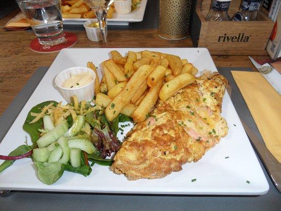Westenschouwen, The Netherlands: Belle omelette au saumon