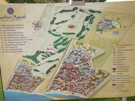 Makadi Bay Karte.Resort Map Picture Of Jaz Aquaviva Makadi Bay Tripadvisor