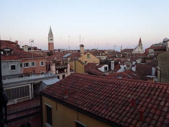Duodo Palace Hotel: Tower in St Mark's Square in the near distance.