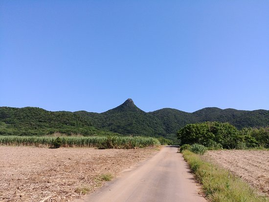Nosoko Mape: View of the mountain from the entrance to the long trail