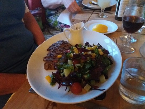 Badby, UK: Steak bavette main