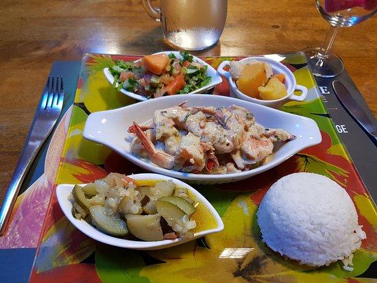 L'Assiette du Cagou: Crevettes à la liqueur de niaouli