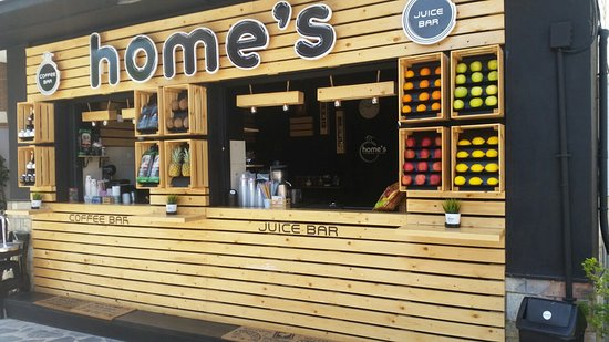 Home S New Look Picture Of Home S Juice Coffee Bar Skiathos