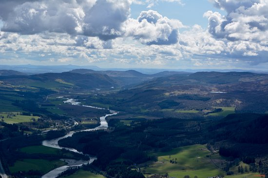 Scone, UK: View south, river Tay and Fife beyond
