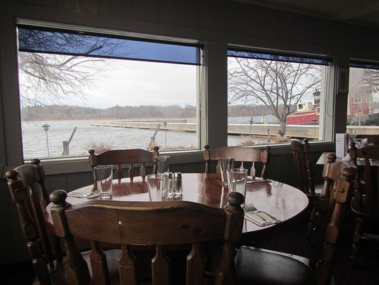 Whitehall, MI: Looking out a window in the restaurant