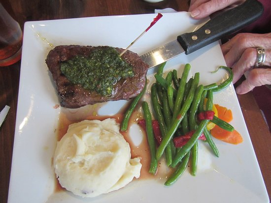 Whitehall, MI : Steak with Chimichurri sauce