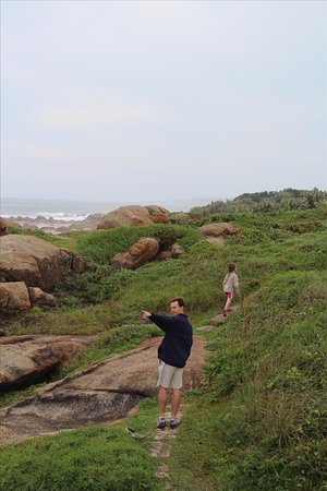 Glenmore Beach, Sudáfrica: Trail along the shoreline.
