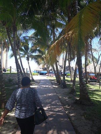 Playa Azul Beach Club Entrance Pool To Left Playground Swings Right