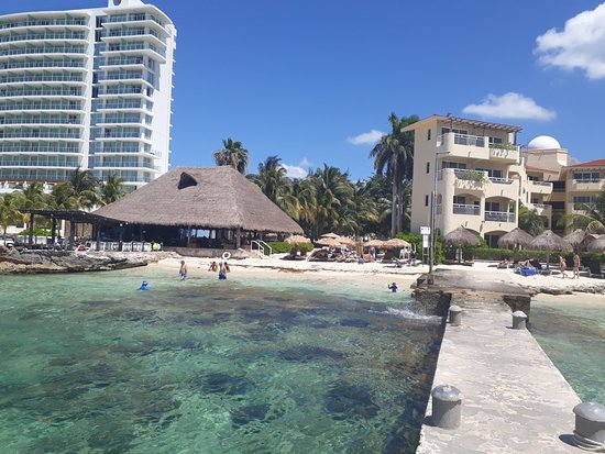 Playa Azul Beach Club Looking From Pier Westin On Left Hotel